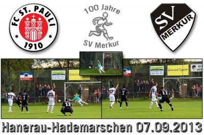 SV Merkur Hademarschen gegen FC St. Pauli am 07.09.2013